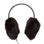 Ted Baker Women's Alvie Mini Bow Faux Fur Earmuffs - Black