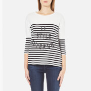 Superdry Women's Nordic Bretton T-Shirt - Black/White