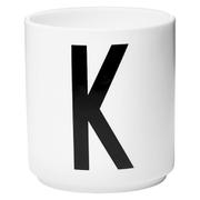 Design Letters Porcelain Cup - K