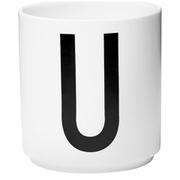 Design Letters Porcelain Cup - U