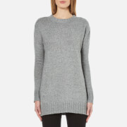 French Connection Women's Cashmere Blend Round Neck Jumper - Mid Grey Marl