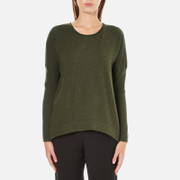 French Connection Women's Viva Vhari Long Sleeve Roundneck Jumper - Dark Olive Night