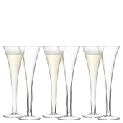 LSA Hollow Stem Champagne Flute - 200ml (Set of 6)