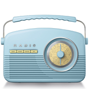 Akai A60010BLDAB DAB Retro Radio - Blue