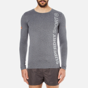 Superdry Men's Gym Sport Runner Long Sleeve Top - Grey Grit