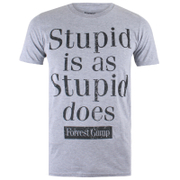 Forrest Gump Men's Stupid Is T-Shirt - Grey Marl