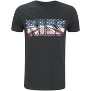 Kiss Men's American Flag T-Shirt - Black