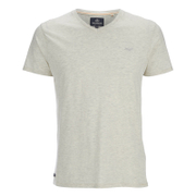 Threadbare Men's Charlie Plain V-Neck T-Shirt - Ecru Marl