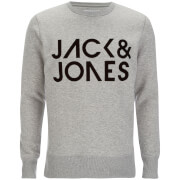 Jack & Jones Men's Core Sharp Crew Neck Sweatshirt - Light Grey Melange