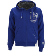 Crosshatch Men's Clarkwell Borg Lined Zip Through Hoody - Mazarine Blue