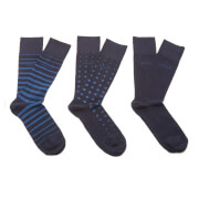 BOSS Hugo Boss Men's 3 Pack Socks - Blue