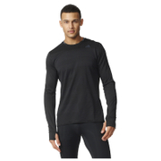 adidas Men's Supernova Long Sleeve Running T-Shirt - Black