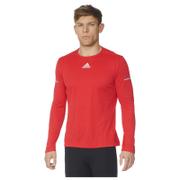 adidas Men's Sequencials Climalite Running Long Sleeve T-Shirt - Red