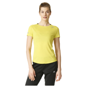 adidas Women's Sequencials Climalite Running T-Shirt - Yellow