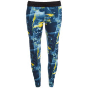 adidas Women's Flower Training Tights - Blue