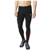 adidas Men's Response Long Running Tights - Black/Red