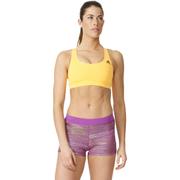 adidas Women's 3-Stripes Training Racer Back Bra - Gold