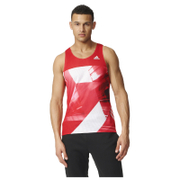adidas Men's Adizero Running Singlet - Red