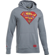 Under Armour Men's Retro Superman Triblend Hoody - Steel/Red