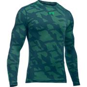 Under Armour Men's ColdGear Jacquard Crew Long Sleeve Shirt - Nova Teal
