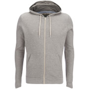Brave Soul Men's Adrian Zip Through Hoody - Light Grey Marl