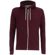 Brave Soul Men's Adrian Zip Through Hoody - Burgundy