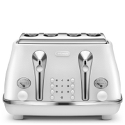 DeLonghi Elements Four Slice Toaster - White