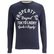 Tokyo Laundry Men's Rowe Creek Long Sleeve Top - Dress Blue