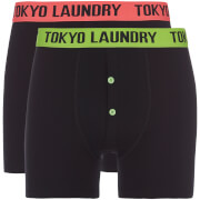 Tokyo Laundry Men's Dunford 2 Pack Boxers - Black/Green/Pink