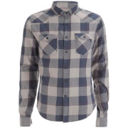 Smith & Jones Men's Exedra Check Shirt - Steel Grey