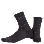 Nalini Wool Pois Socks - Black/White