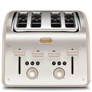 Tefal Maison TT770AUK Stainless Steel 4 Slice Toaster - Oatmeal Grey
