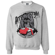 Star Wars Men's Chewbacca Socks Christmas Sweatshirt - Grey Marl