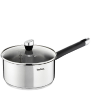 Tefal E8232244 Emotion Stainless Steel 16cm Saucepan with Glass Lid