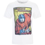 Transformers Mens Optimus Prime T-Shirt - Wit