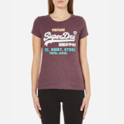 Superdry Women's Shirt Shop Try T-Shirt - Royal Blood Marl