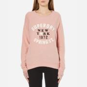 Superdry Women's Applique Crew Neck Sweatshirt - Blush Pink Marl