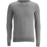 Threadbare Men's Tommy Cotton Crew Neck Casual Jumper - Charcoal