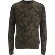 Threadbare Men's Felton Camo Crew Sweatshirt - Black