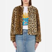 Ganni Women's Ferris Faux Fur Jacket - Leopard