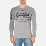 Superdry Men's Shirt Shop Long Sleeve T-Shirt - Pearl Grey Grit