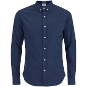 Crosshatch Men's Almond Long Sleeve Shirt - Navy
