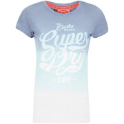 Superdry Women's Osaka Brand T-Shirt - Ice Marl/Navy
