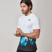 Myprotein Men's Digital Geo Print T-Shirt – Blue