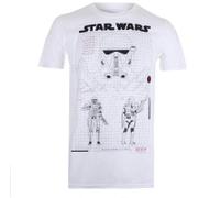 Star Wars: Rogue One Mens Death Trooper Schematic T-Shirt - Wit