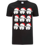 Stormtrooper Men's Christmas Emoji T-Shirt - Black