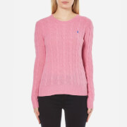 Polo Ralph Lauren Women's Julianna Crew Neck Jumper Cashmere Blend - Wesley Pink Heather