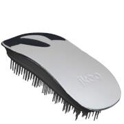 ikoo Home Detangling Hair Brush - Black/Oyster Metallic