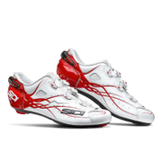 Sidi Shot Carbon Cycling Shoes - White/Red