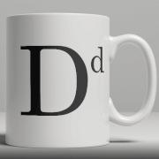 Alphabet Ceramic Mug - Letter D